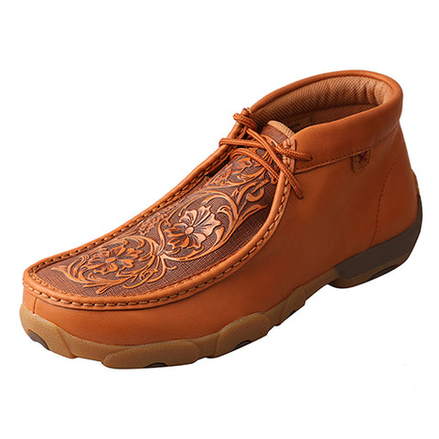 Twisted X Rich Leather Floral Tooled Driving Moc