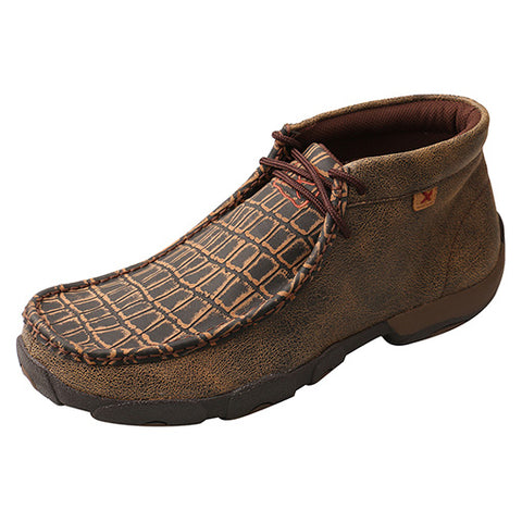 Twisted X Men's Brown Cayman Print Driving Moc