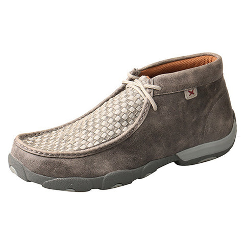 Twisted X Men's Grey Weave Driving Mocc