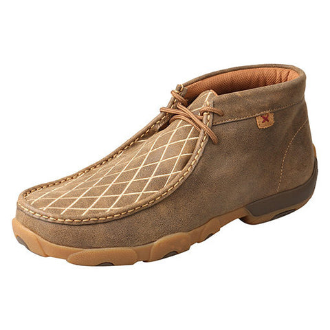 Twisted X Men's Tan Criss Cross Driving Mocc