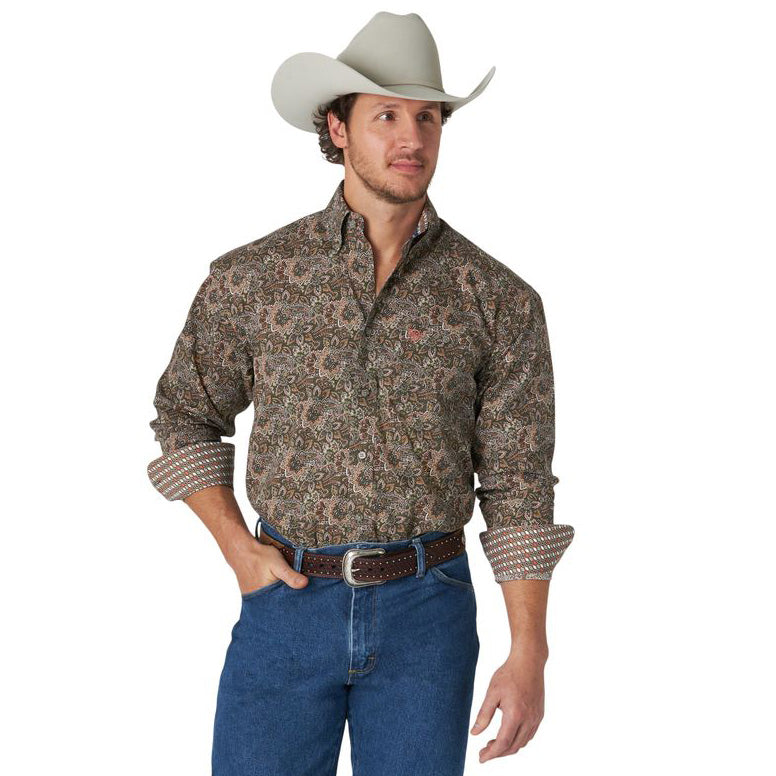 Wrangler Men's George Strait Long Sleeve Shirt