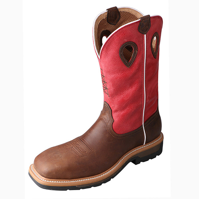 Twisted X Men's Red Composite Square Toe Boot