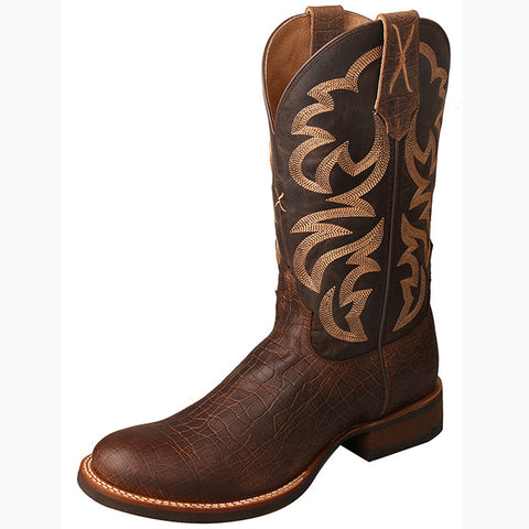 Twisted X Men's Tobacco Taupe Crazy Horse Rancher Round Toe Boot
