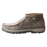 Twisted X Men's Grey Eco Cell Stretch Driving Moc