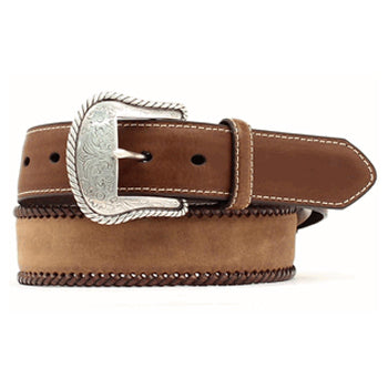 Men's Nocona Brown Laced Edges Belt