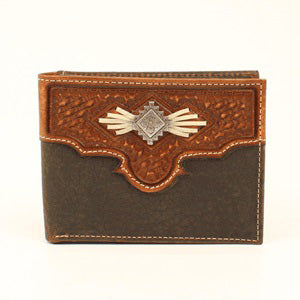 Nocona Men's Oval Aztec Conch Wallet