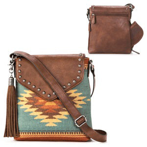 Women's Zapotec Messenger Style Concealed To Carry Purse