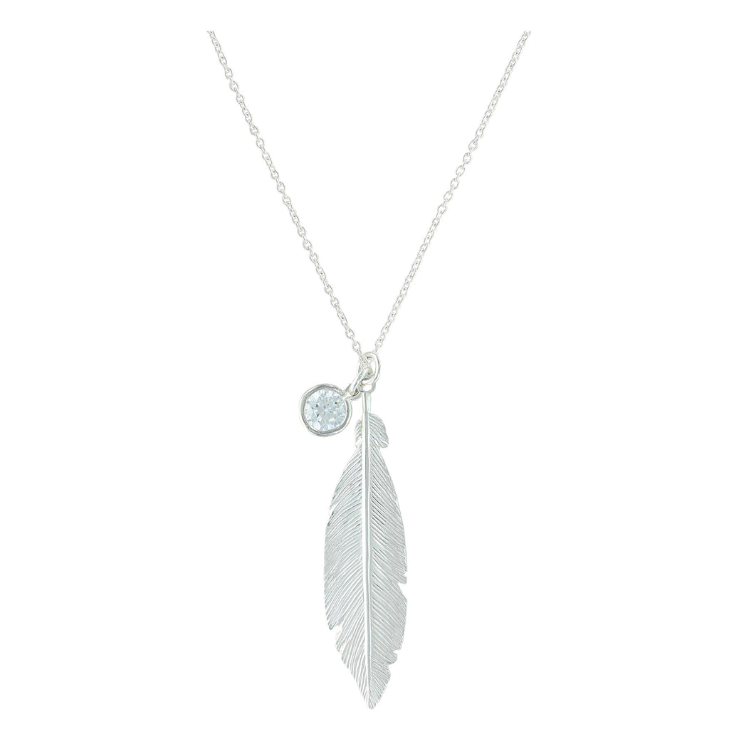 Montana Silver Starlight Feather Charm Necklace