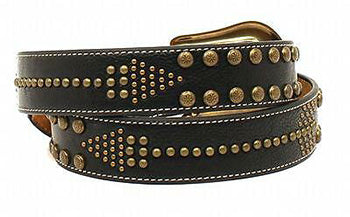 Nocona Ladies Black Arrow Nailhead Belt