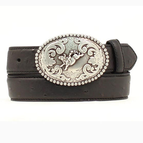 Kid's Black Bronc Western Belt