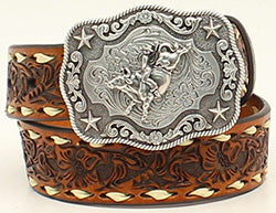 Nocona Kid's Floral Tooled Belt