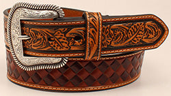 Nocona Men's Brown Basketweave Belt