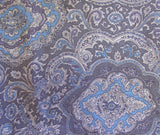 Wyoming Traders Blue And Silver Paisley Wild Rag