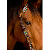 Oxbow Navajo Embroidered One Ear Headstall