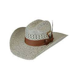 Bailey Hat Black and White Weave Lakota Straw Hat