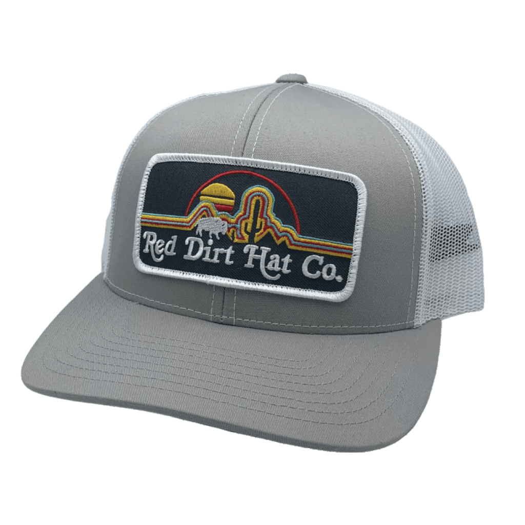 Red Dirt Designs Silver and White Neon Buffalo Cap