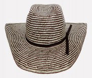 2 Tone Chocolate/Ivory Youth Straw Hat
