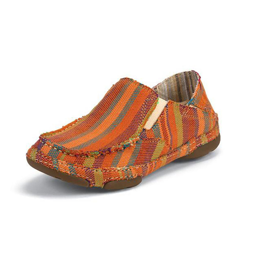 Tony Lama Women's Orange Striped Canvas