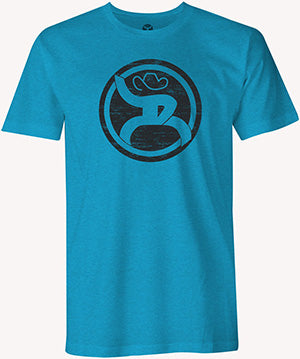 Hooey Turquoise Roughy 2.0 Logo T Shirt