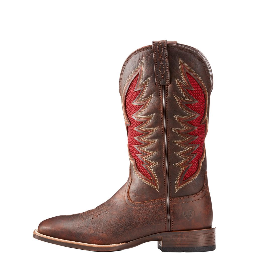 the latest d80d9 62145 Ariat Men's VentTEK Ultra Barley Brown and Red Square Toe ...