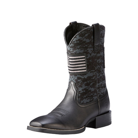 Ariat Men's Black Patriot Sport Square Toe Boot