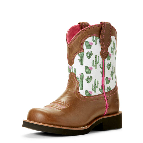 Ariat Kid's Brown Cactus Fatbaby Round Toe Boot