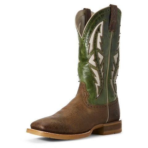 Ariat Men's Fresh Mint and Tobacco Toffee Cowhand Venttek Square Toe Boot