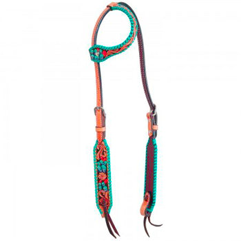 Rafter T Painted Cactus Single Ear Headstall