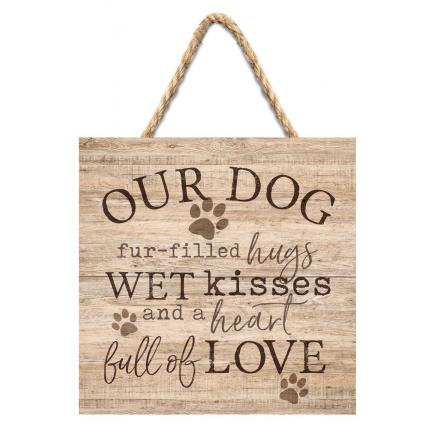 """Our Dog"" Small Wooden Sign"
