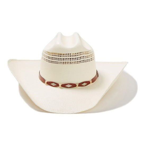 39a2b0c4e108a Stetson Billy Brown Diamond Band Straw Hat – Western Edge