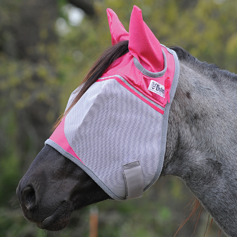 Cashel Pink- Full Ears Fly Mask - Supports Breast Cancer Research