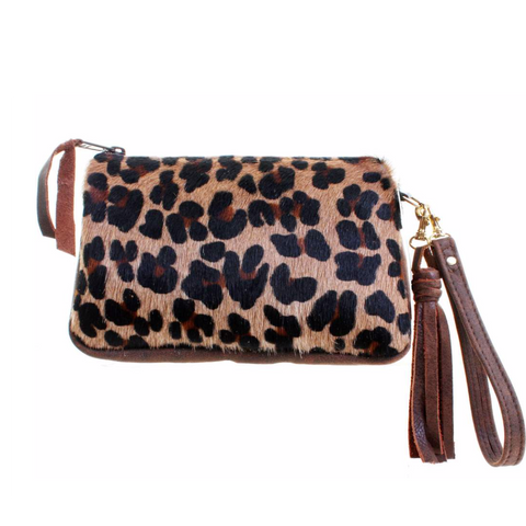 Double J Saddlery Leopard Hair Makeup Pouch