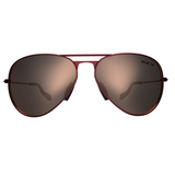 BEX Burgundy and Gold Wesley Sunglasses