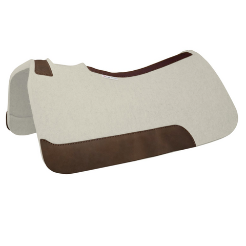 5 Star The Rancher Saddle Pad - Natural w/ Cinch Cutout