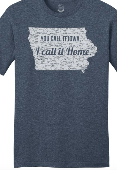 Unisex Navy Call It Home Iowa T Shirt
