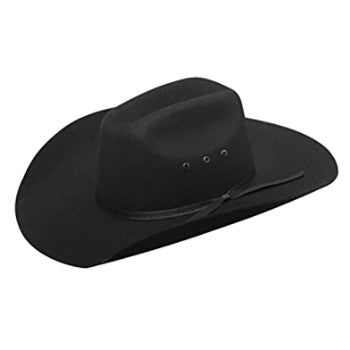 "Youth "" Maverick "" Felt Hat Black"