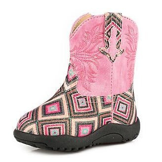 Roper Infant Pink Glitter Diamond Boots