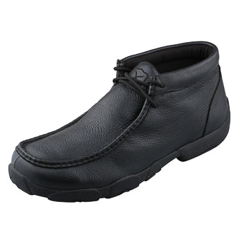 Twisted X Men's Soft Black Leather Driving Moc