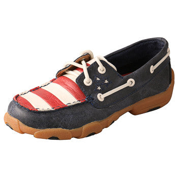 American Flag Twisted X Youth Driving Mocs