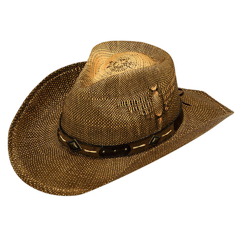 Twister Youth Brown Shady Straw Hat