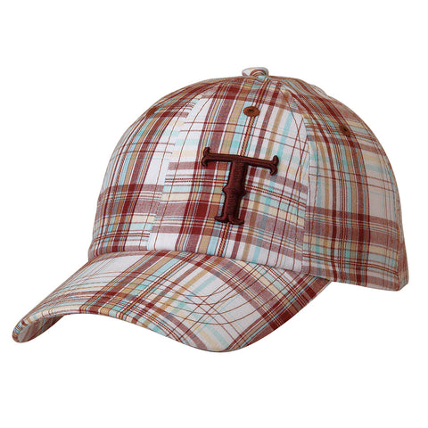 Twister Brown/Turquoise Plaid Cap