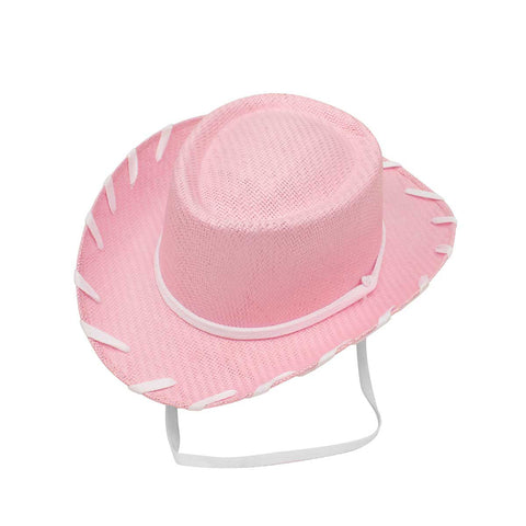 Twister Youth Pink Woody Style Straw Hat