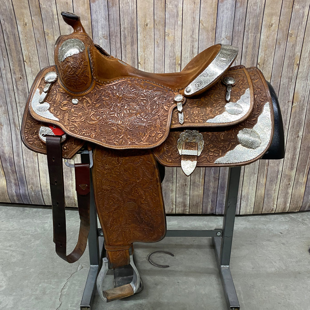 Used Billy Cook Show Saddle, 16 Inch Seat