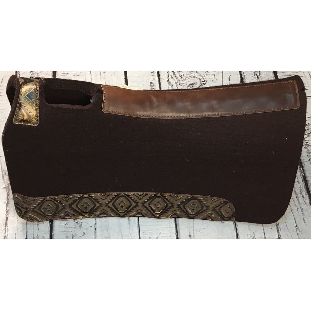 5 Star All Around Saddle Pad - Chocolate/Copper Aztec