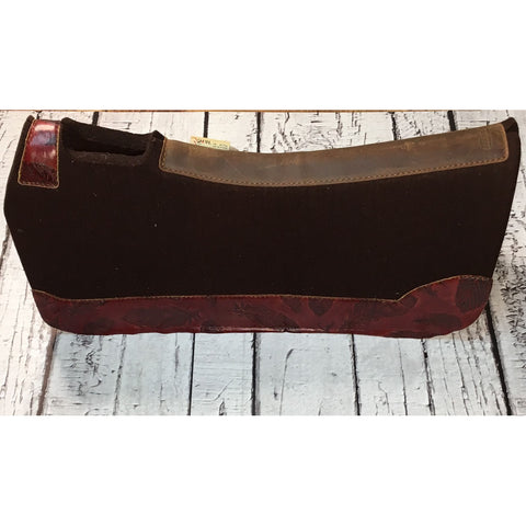 5 Star All Around Saddle Pad- Chocolate/Red Feathers