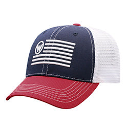 a40392a56 Wrangler Red and Navy Flag Cap