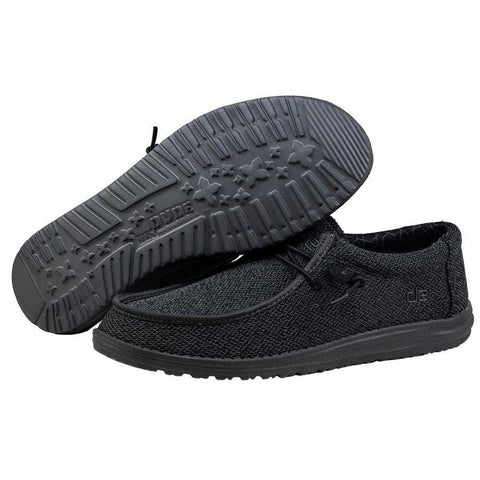 Men's Hey Dude Black Micro Wally Sox Casual Shoe