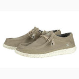 Heydude Men's Beige Wally Stretch Casual