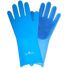 Classic Equine Blue Washing Gloves