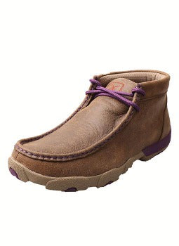 Twisted X Women's Purple and Brown Driving Moc